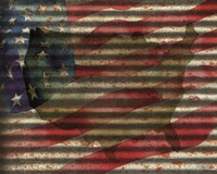 American Flag on Metal Fine Art Print