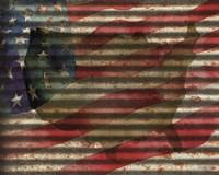 American Flag on Metal Fine Art Print