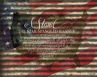 I Stand American Flag on Metal Fine Art Print