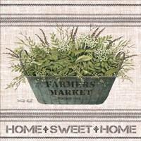 Galvanized Farmer's Market Home Sweet Home Fine Art Print