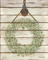 Pully Hanging Wreath Fine Art Print