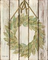 Rope Hanging Wreath Fine Art Print