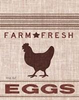 Grain Sack Eggs Framed Print