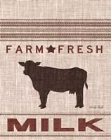 Grain Sack Milk Framed Print