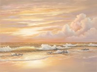 Bright Sunset with Dunes Fine Art Print