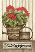 Home Sweet Home Geraniums Fine Art Print