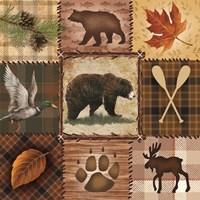 Wildlife Icons Fine Art Print
