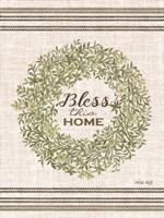 Bless This Home Wreath Fine Art Print