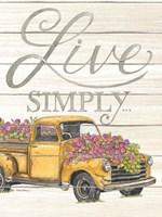Live Simply Fine Art Print