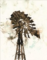 Watercolor Windmill Fine Art Print