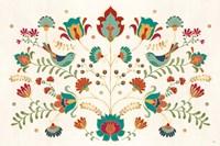 Folk Floral I Fine Art Print