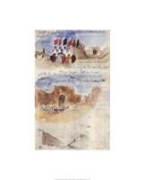"Riders Descending Towards the Plain by Eugene Delacroix - 16"" x 20"""