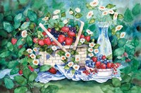 Strawberry Picnic Fine Art Print