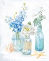 Beach Cottage Florals II Fine Art Print