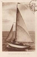 Vintage Sailing II Sepia Fine Art Print