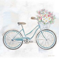 Vintage Bike With Flower Basket I Fine Art Print