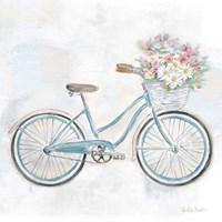 Vintage Bike With Flower Basket I Fine Art Print