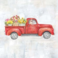 Vintage Red Truck Fine Art Print