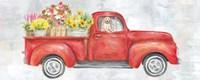 Vintage Red Truck Panel Fine Art Print