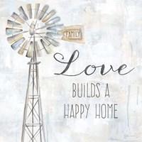 Windmill Love Sentiment Fine Art Print