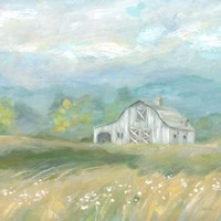 Country Meadow Farmhouse Fine Art Print