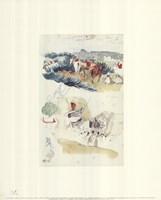 """Album du Voyage au Maroc by Eugene Delacroix - 16"""" x 20"""""""
