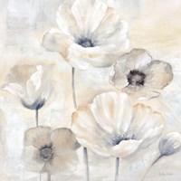 Gray Poppy Garden I Fine Art Print