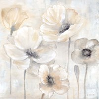 Gray Poppy Garden II Framed Print