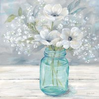 Vintage Jar Bouquet I Fine Art Print