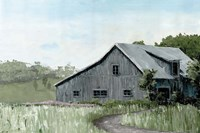 Flower Field Barn Fine Art Print