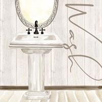 Rustic Bath I Wash Fine Art Print