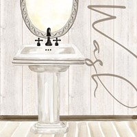 Rustic Bath I Wash Fine Art Print