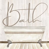 Rustic Bath II Bath Fine Art Print