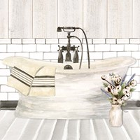 Farmhouse Bath I Tub Fine Art Print