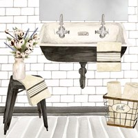 Farmhouse Bath II Sink Fine Art Print