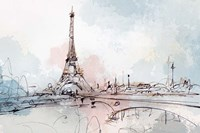 Blushing Paris Fine Art Print