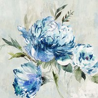 Blue Peony I Fine Art Print