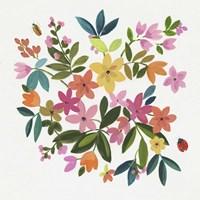 Folky Flowers II Fine Art Print