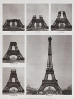 Eiffel Tower Construction Fine Art Print