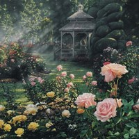 Rose Garden - Paradise Found - Square Fine Art Print