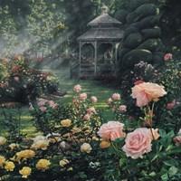 Rose Garden - Paradise Found - Square Fine Art Print