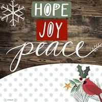 Hope Joy Peace Fine Art Print