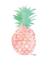 Mint and Pink Pineapple Fine Art Print