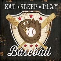 Eat, Sleep, Play, Baseball Framed Print