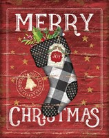 Merry Christmas Stocking Fine Art Print