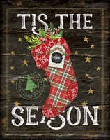 Tis the Season Stocking Fine Art Print