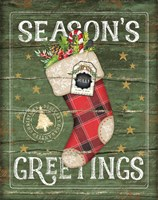 Season's Greetings Stocking Fine Art Print