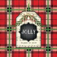 Jolly Christmas Plaid Fine Art Print
