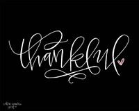 Thankful Black Fine Art Print