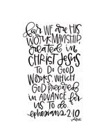 Ephesians 2-10 Fine Art Print